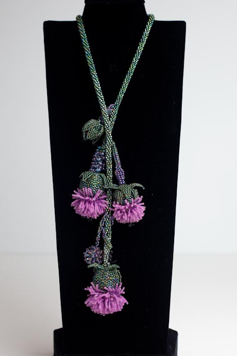 Thistle Necklace (Beadwork Magazine July 2012)
